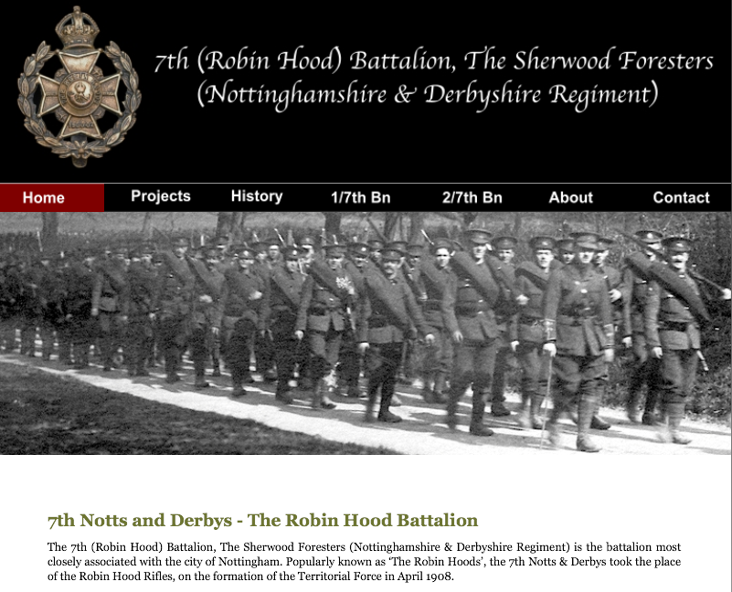 Sherwood Foresters' Website