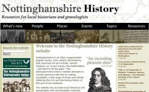 Nottinghamshire History Webpage