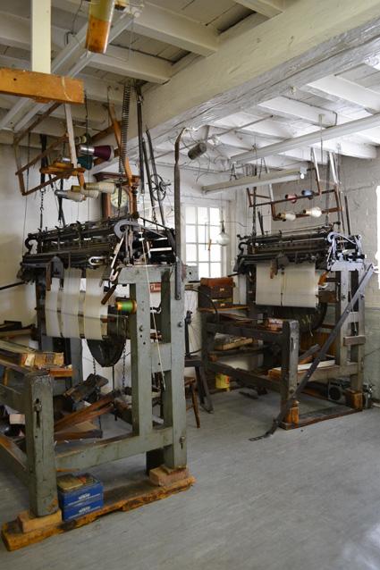 Handframes at Hurt's Shawl Factory