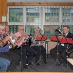 Former members of Thoresby Colliery Band Edwinstowe Library 21st Sept 2015