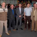 Ken Fidler, Bob Hallam, Derek Main, David Betts, Terry Wheatley, former Colliery Managers