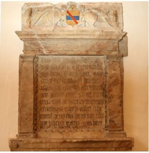 The memorial for Thomas Helwys' father and sister at St. Martin's, Bilborough.